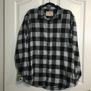 Jachs Other - Jachs MFG Co. Black & Gray Plaid Flannel Shirt MEN