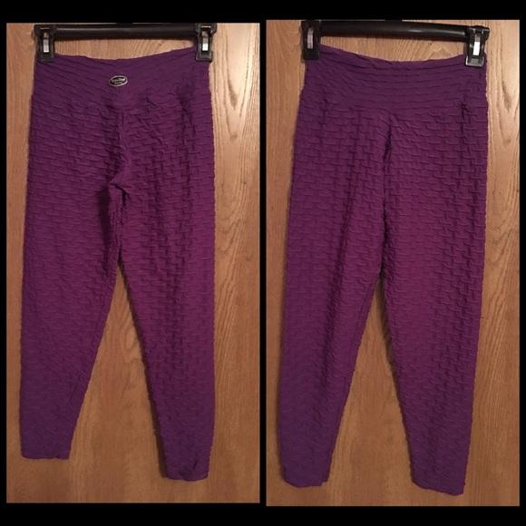 ef63079f8317d Pants | Bumbum Bacana Purple Honeycomb Leggings Size Sm | Poshmark