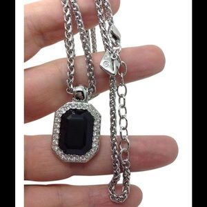 Swarovski Jewelry - Swarovski black gemstone crystal pendant necklace