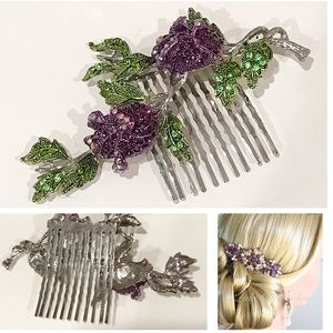 New Purple Rose Hair Comb
