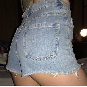 Topshop Pants - Topshop Denim High Waist Waisted Short