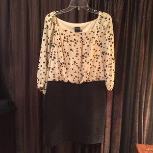 Polka Dot Bloused Dress