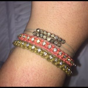 set of 3 chic beaded and studded bracelets!