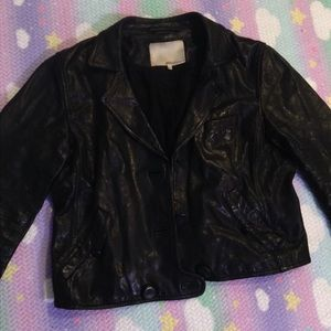3.1 Phillip Lim cropped leather jacket SZ 10