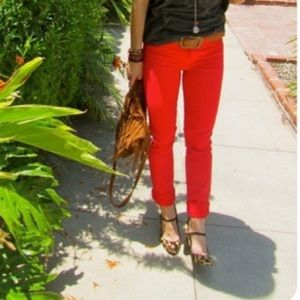 J. Crew Factory Pants - J. Crew Red Winnie Pants