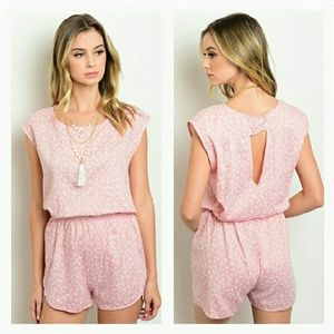 Route 3 Pants - SATURDAY SALE {Pale Pink Floral Romper}