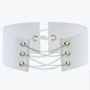 Jewelry - ❤Buy 2 Get 1 Free! ❤White Wide Choker Necklace