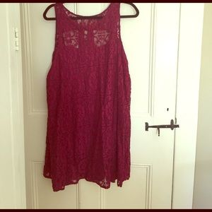 Free People Floral Lace Dress