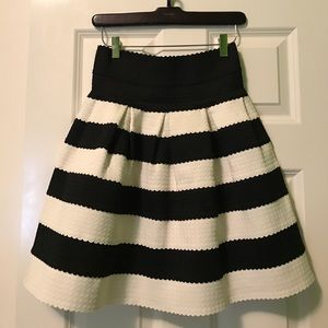 Anthropologie Girls From Savoy Black & White Skirt