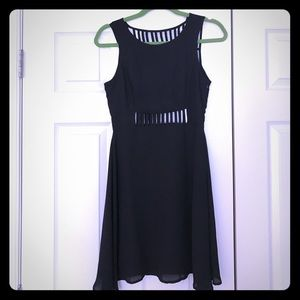 Lulu's Dresses & Skirts - Lulu's Black Cage Cutout Dress Sz S
