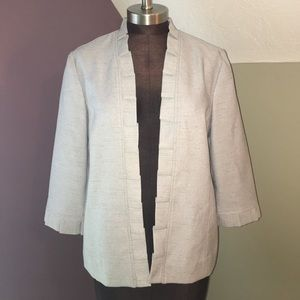 Alfred Dunner Jackets & Blazers - Alfred Dunner | Petite Cropped Open Blazer