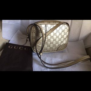 Gucci Handbags - Brand New Gucci Bree Guccissima Disco Golden Beige