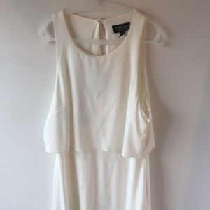 Topshop Dresses & Skirts - Topshop white dress with overlay