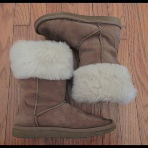 American Eagle Tan Suede Boots Sz 7