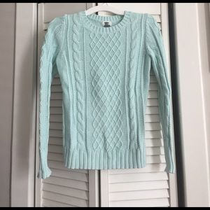 Mint cable knit sweater, Old Navy, size Small