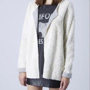 Topshop Sweaters - 🎉HOST PICK🎉 Topshop beige sheepskin cardigan