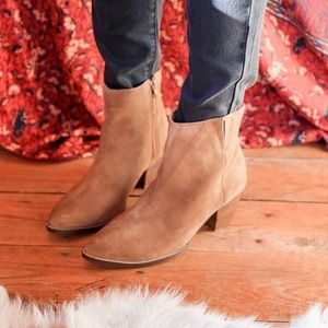 Free People Shoes - Tan Suede Leather Pointed Booties