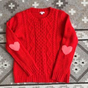 J.Crew Heart Elbow Sweater