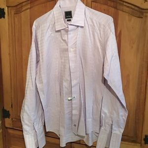 David Donahue Other - David Donahue trim fit purple with black check