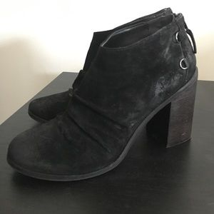 Boutique 9 suede leather distressed style bootie