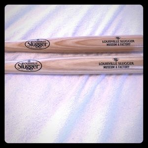 Other - 2 authentic Louisville Slugger toy bats