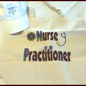 Handbags - Nurse Practitioner bundle tote and hat