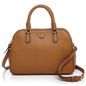 Tory Burch Handbags - TORY BURCH ROBINSON PEBBLED SMALL ZIP SATCHEL
