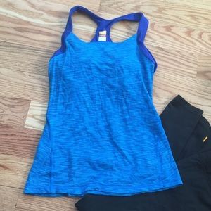 Lucy Tops - Blue space dye Lucy power tank size s