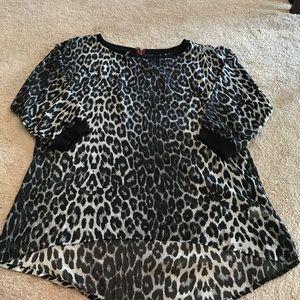 Maurices blouse xl cheetah print