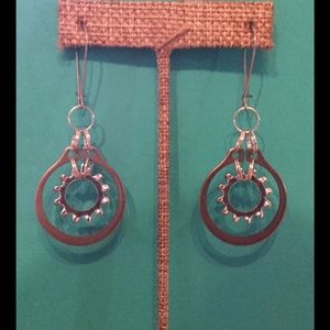 10.Deep Jewelry - hardware Chic Parts Dangle Earrings. A-2-55