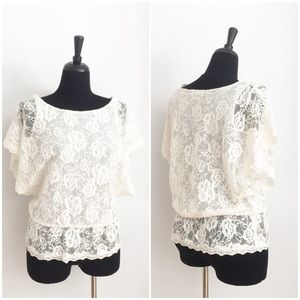 Saks Fifth Avenue Black Label Tops - 🌟LIKE NEW🌟 SAKS FIFTH AVENUE BOHO LACE TOP