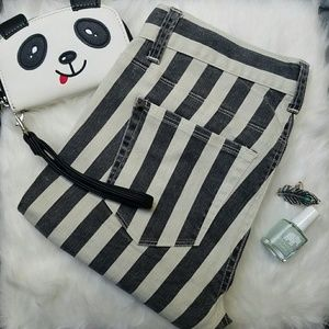 Lucca Couture Denim - !! Black and white striped jeans size 26