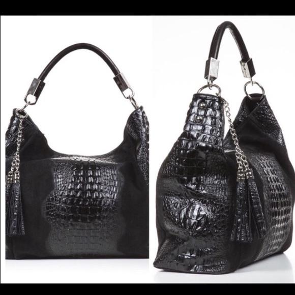 abfda918fb26 SC Crocodile Embossed Italian Designer Handbag ⚡️