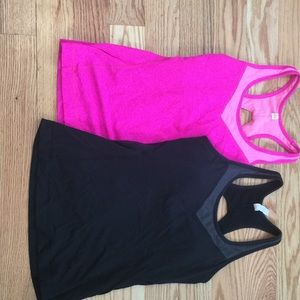 Lucy Tops - Lot of 2 Lucy workout tanks size M in pink + black