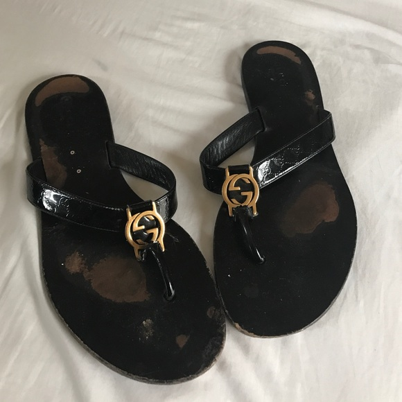 4b6dc6d44313 Gucci Shoes - Gucci GG Thong Web Sandals