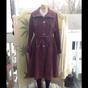 Vtg 60s/70s Wide Wale Corduroy Swing Coat
