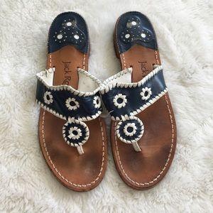 Jack Rogers Shoes - Jack Rogers Blue White Sandals size 9