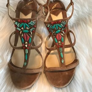 B Brian Atwood Shoes - Brian Atwood Donosa Jewel-Embellished Sandals