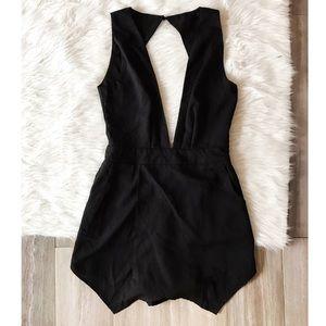 Glamorous Pants - Glamorous Low Cut Black Romper