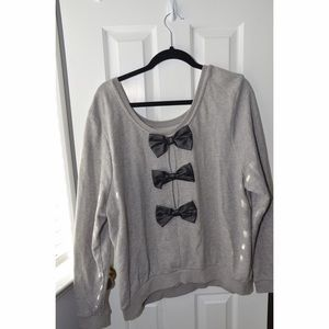 Forever 21 plus sweater with bows 3x