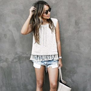 Sincerely Jules Tops - Sincerely Jules Tulum Knit Fringe Tank
