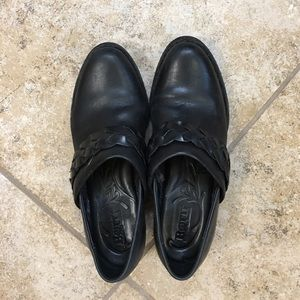 Black half boots by Born