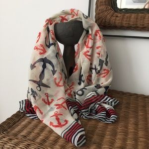 2 Chic Accessories - 2 Chic Anchor Scarf/wrap