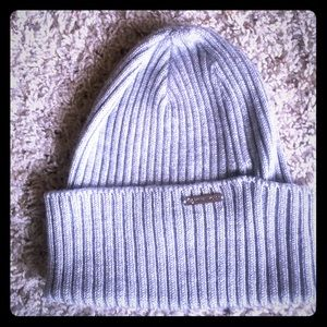 Michael kors silver knit beanie