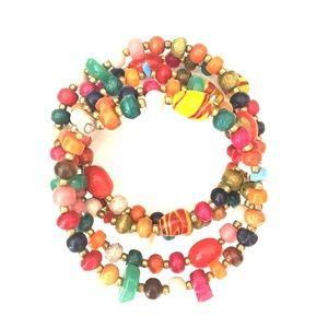 Jewelry - Colorful bead wrap around bracelet
