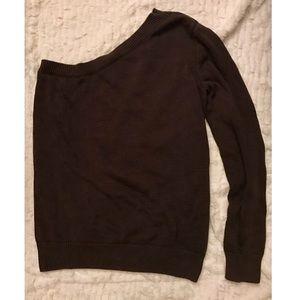 Michael Kors Sweaters - Michael Kors Brown One-Shoulder Sweater