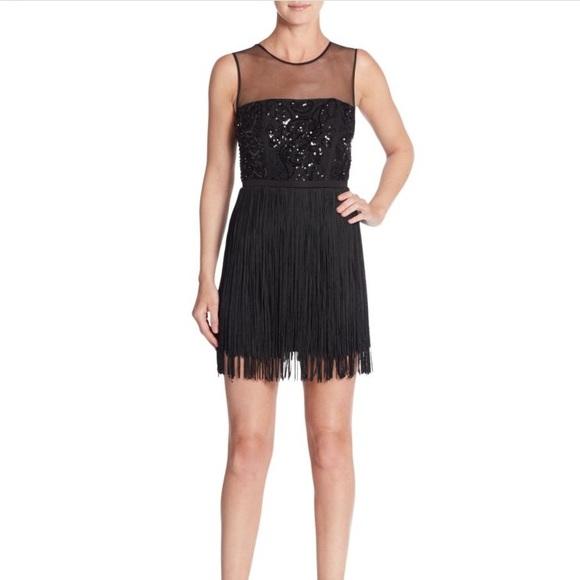 BCBGMaxAzria Dresses & Skirts | BCBG Melly Sequin Fringe Cocktail ...
