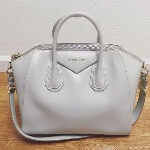 GIVENCHY Anitgona Medium Bag in Stone Grey