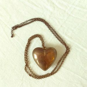 Jewelry - Brass heart necklace