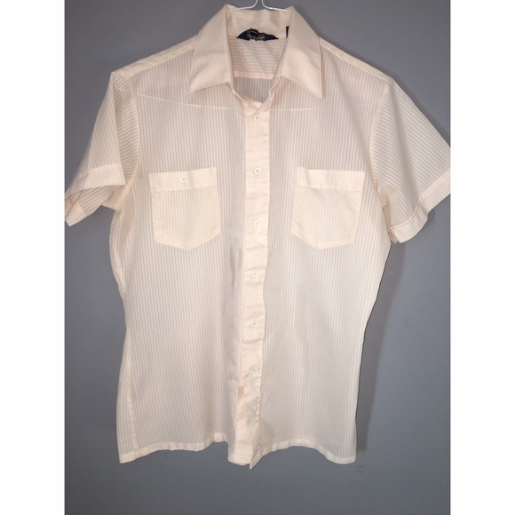 Shirts - Men's Vintage Short Sleeve Button Down